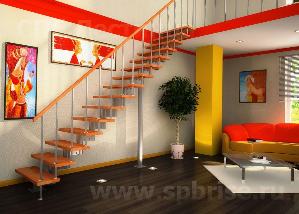 Лестница - наиболее сложная деталь жилого дома