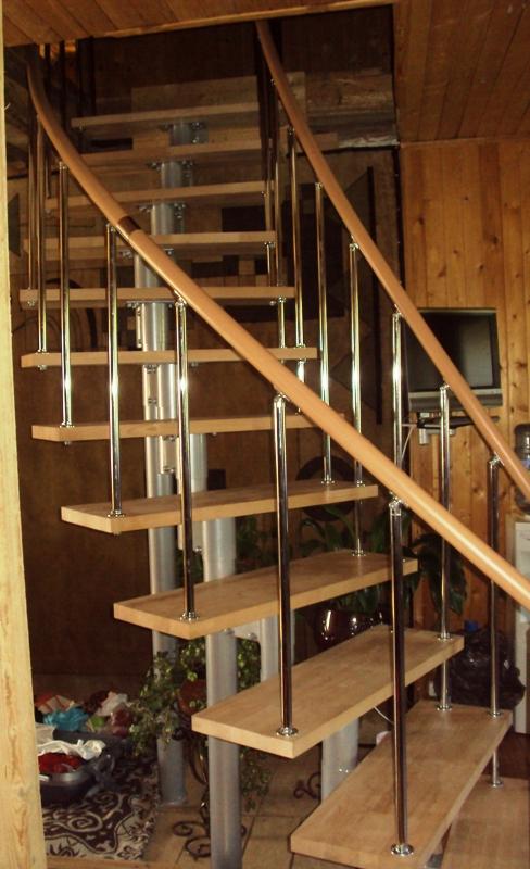 Как сделать полукруглую лестницу из дерева