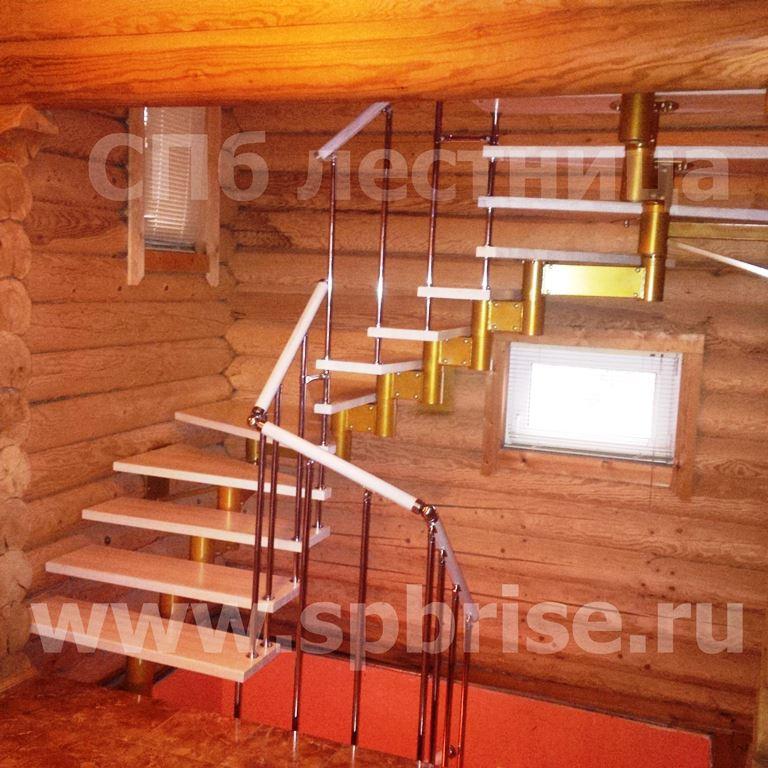 Высота опорных столбов у лестницы